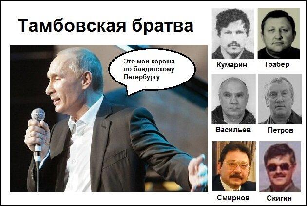 Тамбовская ОПГ — Путин, чекисты и чиновники