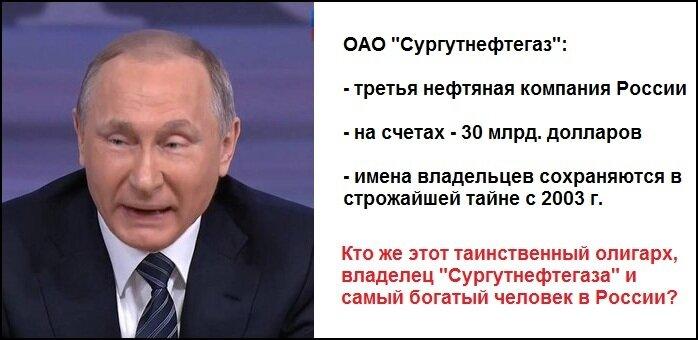 Путин и Сургутнефтегаз